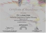Certificate ISID 2009 - drg Lukas