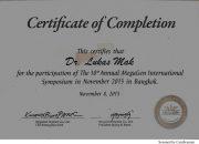 Certificate Megagen - drg Lukas