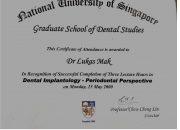 Certificate NUoS - drg Lukas